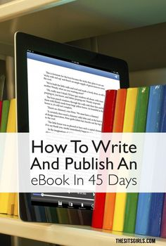 Do you want to write an ebook, but you aren't sure where to start? Click through to see the step-by-step process for writing and publishing an ebook in 45 days. It's a great way to make money and add a new revenue stream to your blog.