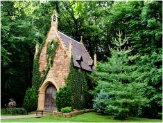 St. Catherine's at Bell Gable chapel, Fayetteville, AR.  Teeny tiny perfect little cathedral, created by a retired engineer.