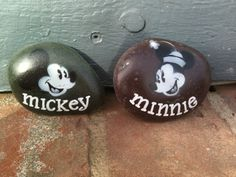Vintage airbrushed Mickey and Minnie SNS DESIGNS