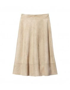 Michael Kors Light Suede Flare Skirt