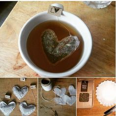 DIY PROJECT: Heart-Shaped Tea Bags  Check out these awesome DIY tea bags @jess_hughesss made for our Chai Spice #lactation tea using coffee filters. WITH little tags too! ❤️ www.mrsmilk.com