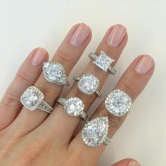 """Because it's Monday and you deserve some sparkle ✨ Which of these @markbroumand beauties is your fave?!  #theknotrings"""