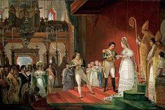 Casamento de dom Pedro I e dona Amélia, pintado em 1829 pelo francês Jean-Baptiste Debret