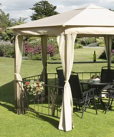Take a look at this Beige Majestic Gazebo by Trans-Continental Group on #zulily today!