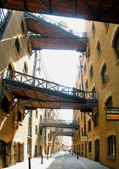 Wander Shad Thames then cross Tower Bridge or walk past City Hall