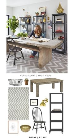 @Genevieve Gorder Home 's home office featured on @HGTV recreated by @Audrey Dyer for $1,912 #CopyCatChic