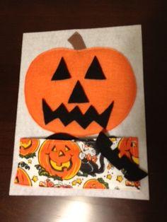 Make a Jack-o-lantern quiet book page