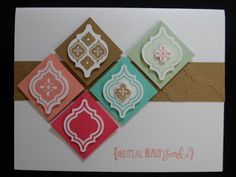 Mosaic card  #stampin' up! #punch #2013-2014 In Colors