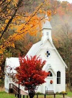 Quaint church in the woods. Old Country Churches, Old Churches, Beautiful Buildings, Beautiful Places, Church Pictures, Take Me To Church, Cathedral Church, Church Building, Church Architecture
