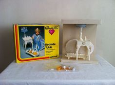 Vintage 1978 Sindy Bedside Table Set w/Lamp  Marx Toys #1234