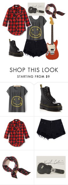 """Nirvana"" by eirinimaria ❤ liked on Polyvore featuring Dr. Martens"
