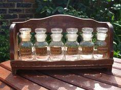 Vintage Herb Jars #vintage #cottage #kitchen