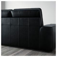 KIVIK Sectional, corner - Grann with chaise, Bomstad Grann/Bomstad black - IKEA Ektorp Sectional, Chaise Sofa, Ikea Kivik, Landskrona Sofa, Gentlemans Lounge, Faux Leather Sofa, Ikea Family, Relax, Fabric Sofa