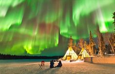 Auroras over Northern Canada.