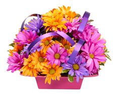 Vibrant flower color lasts longer when using an OASIS Essential Container filled with OASIS Floral Foam Maxlife.