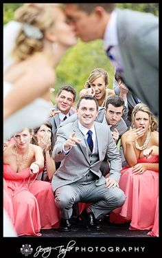 unique wedding party pictures   Jenny Taylor Wedding Photography   Unique Bridal Party Pose   wedding
