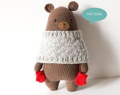 Crochet pattern Bear Amigurumi Digital PDF crochet pattern