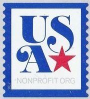 Stamp: Nonprofit Org - blue border (United States of America) (Nonprofit Org.) Sn:US 5172