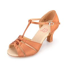Lots of pretty options!!  Women's Satin Upper T-Strap Latin / Ballroom Dance Shoes – USD $ 24.99