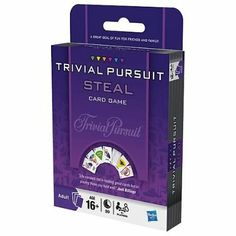 Trivial Pursuit Card Game by Hasbro List Price:	$9.99 Price:	$5.95 & FREE Shipping on orders over $35. https://www.amazon.com/dp/B0036RRTVW?tag=howtobuild005-20&camp=0&creative=0&linkCode=as4&creativeASIN=B0036RRTVW&adid=1W9E388G155SBP78FSDY&