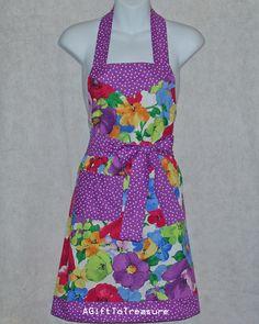 Pretty Purple Passion Petite Size Ladies Apron