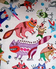Textile work (85x95sm.) Styky bryky by Ivan Semesyuk,