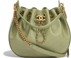 9e5c6cf928 green-calfskin-chevron-drawstring-bag-94-55-24-