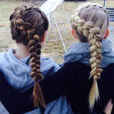 wrap around braids on best friends