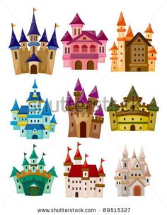stock vector : cartoon Fairy tale castle icon