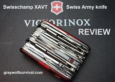 Graywolf Survival | The ultimate camper / survival / prepper / handiman gift | The Victorinox Swisschamp XAVT Swiss Army Knife | #prepbloggers #review #gear
