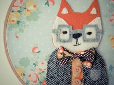 fox in glasses!  i want to make this so badly