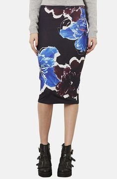 Topshop Floral Print Tube Skirt available at #Nordstrom