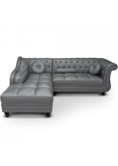Canapé d\'angle Isium Taupe style chesterfield | Canapé d\'angle ...