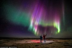 The Northern Lights. Italian photographer Giovanna Griffo's mesmerising images of the Aurora Borealis during the blue hour near Hella, Iceland