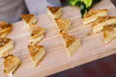 Mini Grilled cheese wedges, a part of the heavy hor' dourves. Heavy Appetizers, Wedding Appetizers, Mini Grilled Cheeses, Wedding Reception Food, Wedding Foods, Wedding Ideas, Cheese Wedge, Brunch, Late Night Snacks
