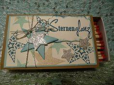 """Dekorative xxl Streichholzschachtel Weihnachten von """"Schönes aus Stempel und Papier"""" auf DaWanda.com"""