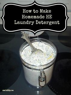 How to Make Homemade HE Laundry Detergent