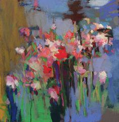 "Teel Rose in the Garden. 2016. Pastel & Graphite. 10.5"" x 10.5."" Casey Klahn."