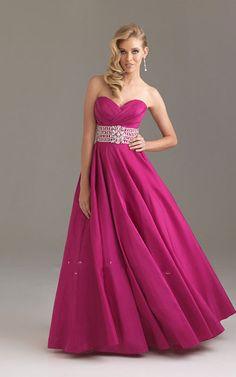Fuchsia Open Back Ballgown Strapless Long Dresses for Prom