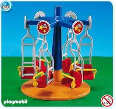 Playmobil Kids Carousel by Playmobil. $17.49. This item is part of the Direct Service range. This range of products are intended as accessories for or additions to existing Playmobil sets. For this reason these items come in clear plastic bags or brown cardboard boxes instead of a colorful retail box.. Seats 6 kids and spins.