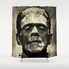 FREE Worldwide Shipping + $10 Off New Duvet Covers on Freak Shop | Freaks & Geek Products' products thru August 10, 2014, worldwide! Frankenstein Grunge Shower Curtain by Freak Shop | Freaks & Geek Products - $68.00