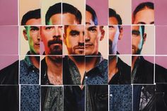 In this there are not only many pictures but different men so when put together it creates a slightly confusing but very interesting image Band Photography, Portrait Photography, Photo Mosaic, Portraits, Photo Projects, Animation Film, Music Bands, Graphic, Music Videos