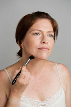 Younger skin: Step 3 Sweep contouring powder along the hollows of your cheeks and on the underside of your jaw to subtly make your face look lifted. To contour, use shimmer-free face powder that's two shades darker than your skin