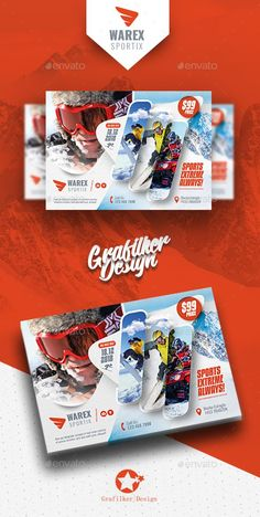 Winter Adventure Flyer Templates — Photoshop PSD #student #training • Download here ➝ https://graphicriver.net/item/winter-adventure-flyer-templates/21132315?ref=pxcr