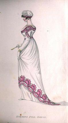 Evening Full Dress, 1811, Belle Assemblee