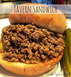 South Your Mouth: Tavern Sandwich {a. Loose Meat Sandwich} South your mouth: Tavern Sandwich {a. Sandwich with loose meat} Sandwich Bar, Roast Beef Sandwich, Soup And Sandwich, Sandwich Recipes, Made Right Sandwich Recipe, Zip Burger Recipe, Sandwich Ideas, Sushi Recipes, Appetizers