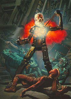 What happens when you piss me off in 40 years. Science Fiction Art, Pulp Fiction, Arte Sci Fi, 70s Sci Fi Art, Arte Cyberpunk, Classic Sci Fi, Sci Fi Books, Comic Books, Sci Fi Characters