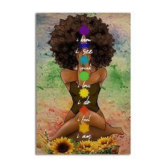Black Love Art, Black Girl Art, All Poster, Poster Prints, Black Art Pictures, Vintage Hippie, African Girl, Chakra Meditation, Beautiful Posters