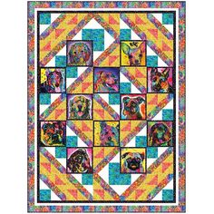 Quilting Treasures Fabrics Doggie Maze Quilt Kit | Quilt Fabric Hancocks Of Paducah, Quilt Kits, Quilt Top, Maze, Quilts, Sewing, Fabric, Pattern, Things To Sell