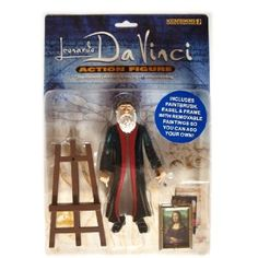 Leonardo Da Vince Action Figure With REAL WORKING EASEL Your Kids Will Be Amazed As